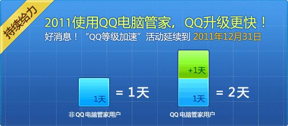 使用电脑管家,QQ升级更快!